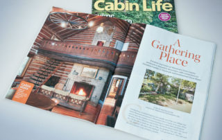 Hermitage profiled in Cabin Life magazine