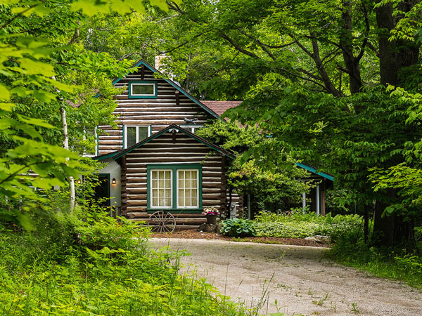 Hermitage is historic Log Home located on a 17-acre estate